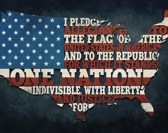 Americana - Pledge of Allegiance (Art Prints available in multiple sizes)