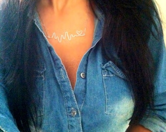 Heartbeat necklace.