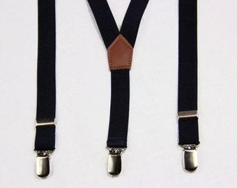 Navy blue Boys Suspenders,grey  Kids Suspenders,Baby Suspenders,Toddler Suspenders,child suspenders, wedding suspenders,infant suspenders