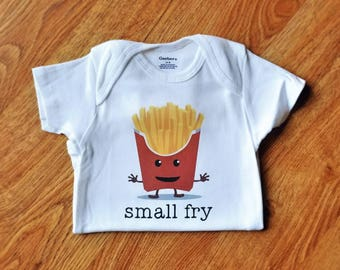 Small Fry Onesie | Funny Baby Onesie | Small Fry | Funny Shirts for Baby | French Fry Shirt | Cute Baby Onesie | Baby Shower Gift | Baby