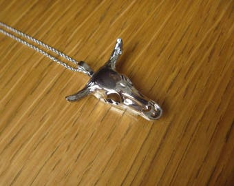 buffalo silver necklace