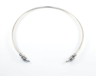 Montague Torc - sterling silver open collar necklace