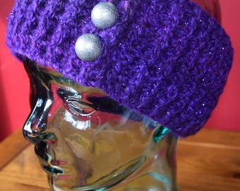 Sparkle Ribbed Ear Warmer Headband