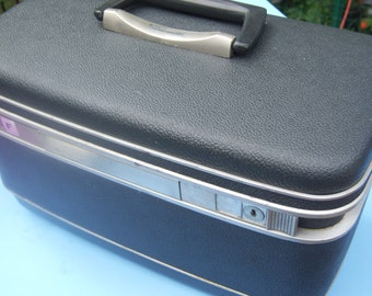 Vintage Samsonite Train Case Blue Gray
