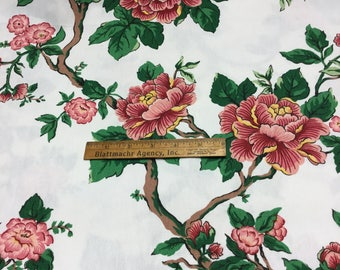 BEAUTIFUL Floral Upholstery Fabric ~ 90's