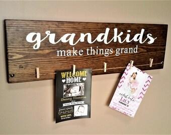 Grandkids Make Things Grand Wood Sign