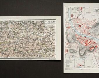 Salzburg city map Etsy