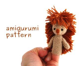 hedgehog amigurumi pattern, crochet finger puppet, hedgie puppet pattern, animal finger puppet, animal puppet pattern, amigurumi hedgehog