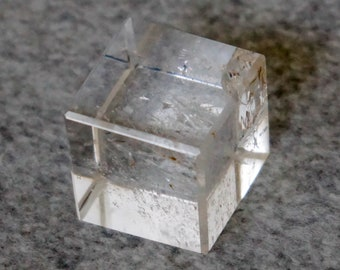 Clear Quartz Cube Carved Clear Quartz Crystal Cube Rock Crystal Stone Platonic Solids Sacred Geometry