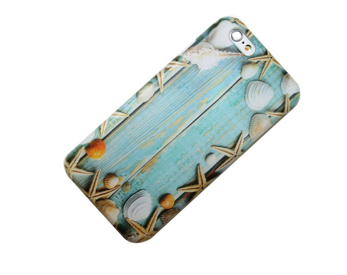 Featured listing image: Wood Plank Seashell Beach Nautical Transparent Clear iPhone Case, Trendy, iPhone 6, iPhone 7, iPhone 6 Plus, iPhone 7 Plus, Galaxy S7,  Note