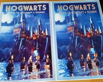 Hogwarts Travel Poster Grunge   Harry Potter poster    Vintage Impressionistic look print   Vintage travel   Fantasy travel poster