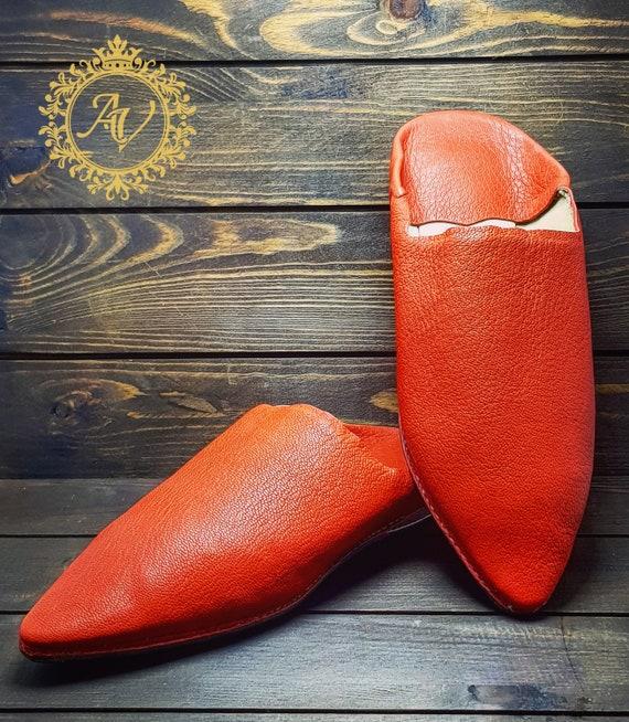Moroccan Slippers Orange Slippers Women Suede Slippers Babouche Moroccan Babouche Handmade Pointed Leather Sheepskin pIdzwwxqXO