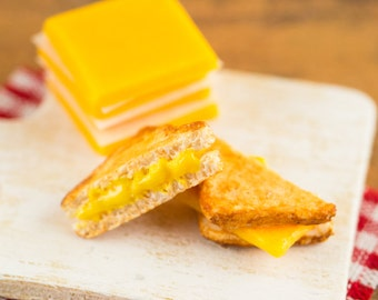 Made to Order Miniature Grilled Cheese Sandwich - 1:12 Dollhouse Miniature