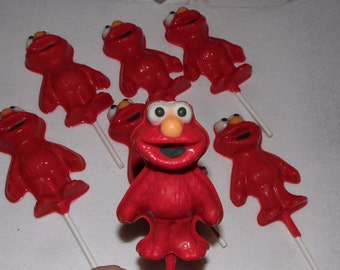 20 Elmo chocolate lollipop favors with free favor tags