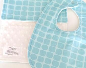 Baby Bib & Burp Cloth Set, Snakeskin