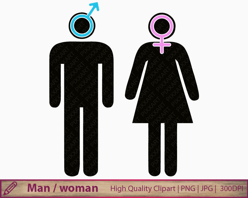 Man Woman Icon Clipart Boy Girl Symbol Clip Art Toilet