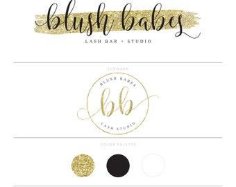 Gold Logo Lash Logo Makeup Logo Branding Package Photography Logo Watermark Eyelash Logo Makeup Artist Logo Blog Logo Hair Stylist Logo