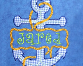 Split Ship Anchor Applique Embroidery Design INSTANT DOWNLOAD
