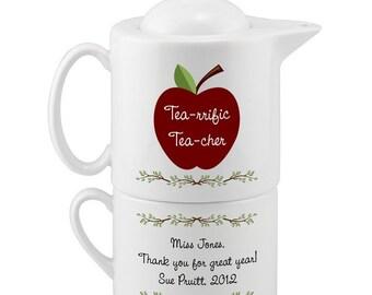 Personalized Teacher's Tea Set