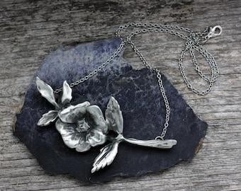 Wild Rose Large Pendant Necklace