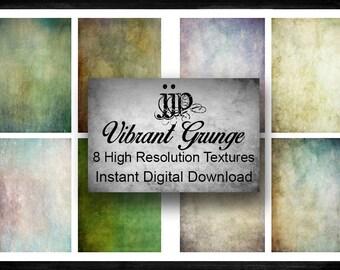 Vibrant Grunge Fine Art Textures - High Resolution