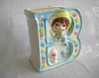 VINTAGE BABY BOY Nursery Planter Pottery