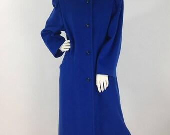 1980s wool long dress coat
