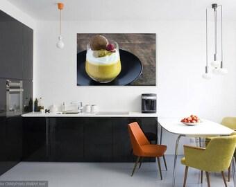 MANGO DESSERT - Food Art - Kitchen Photo - Horizontal Photo - Digital Photo - Digital Download - Instant Download - Wall decor
