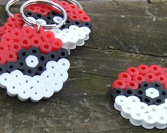 Pokeball Perler Key Chain