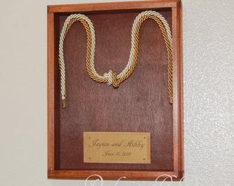 "Fisherman's knot display, Fisherman's knot Wedding Ceremony, Knot wedding ceremony, two cords, Wedding 3/8"" cords, Beach wedding"