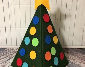 Felt Christmas Tree, Felt Board, Flannel Board, Busy Board, Felt Board Christmas Tree, Felt Christmas, Toddler Christmas Tree, 3D Felt Tree