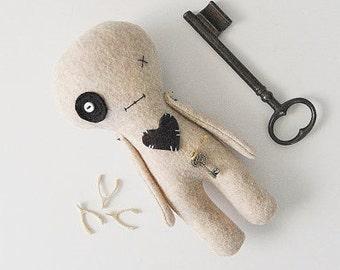 Goth Doll, Horror Doll, Voodoo Doll, Halloween, Creepy Toy, Magickal Doll