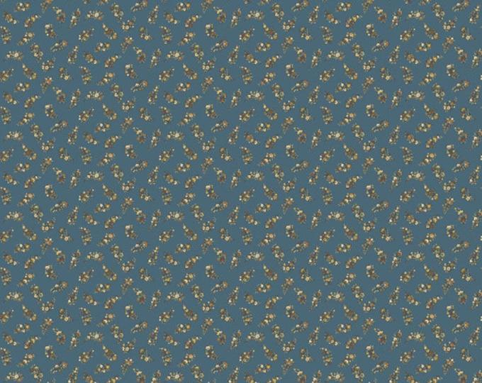 Carlisle - Floral Leaves Blue 8471KB - 1/2yd