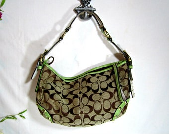 Vintage COACH fabric bag, Small Coach bag, Coach bag, Vintage COACH bag