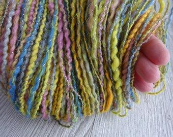Hand Spun Yarn Merino Superfine Lurex