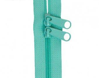 """40"""" Double Slide Handbag Zipper by Annie - Color TURQUOISE"""