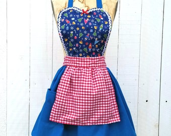 CHRISTMAS apron, NUTCRACKER apron for women and girls, Mother Daughter apron sets, Holiday  apron, full apron, girls Christmas apron