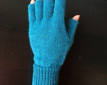 Half Mid Finger Gloves/Hand Warmers/Manicure/Driver/Bike/Bicycle Gloves (Snow Cone)