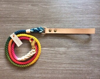 Little  Rainbow Custom Dog Leash,cotton rope
