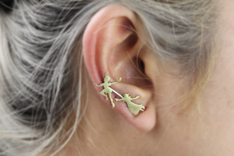 Peter Pan and Wendy Ear Pin/Climber Peter Pan earrings
