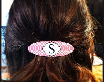 Monogrammed Hair Barrette - Design Your Own - Personalized Barrette