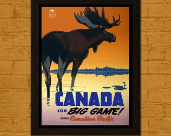 Canada Travel Print - Canada Poster Travel Wall Decor Canada Print Travel Wall Art Canadian Print Canadian Pacific Poster