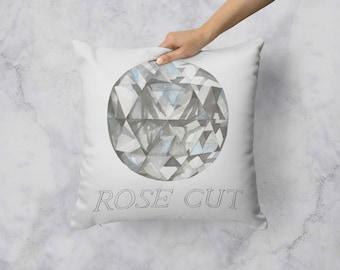 Rose Cut Diamond Pillow