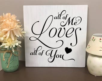 """DIY Sign Painting Kit - 12""""h x 12""""w - All of me Love all of You - Paint your own Sign Virtual Paint Party"""