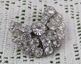 Vintage Rhinestone Crystal Pin from the 1930s - Stunning