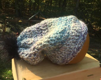 Simple slouchy hat wide brim winter hat