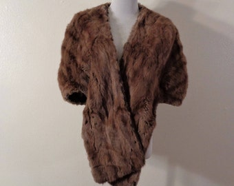 50s Switzer's Mid Century Brown Soft Squirrel Fur Stole