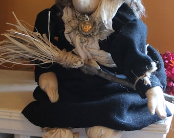 Whimisical Handcrafted Halloween Witch