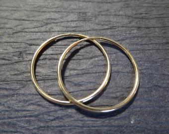 "1-10 pairs, Endless HOOPS Earrings Earwires Ear Wires Wholesale / 1"" inch, 25 mm, 14k Gold Fill Hoops / Interchangeable Hoops ihs.eh.25"