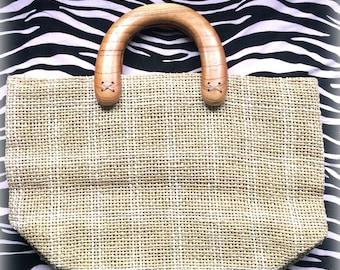 Vintage straw handbag